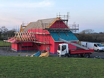 timberframe house construction